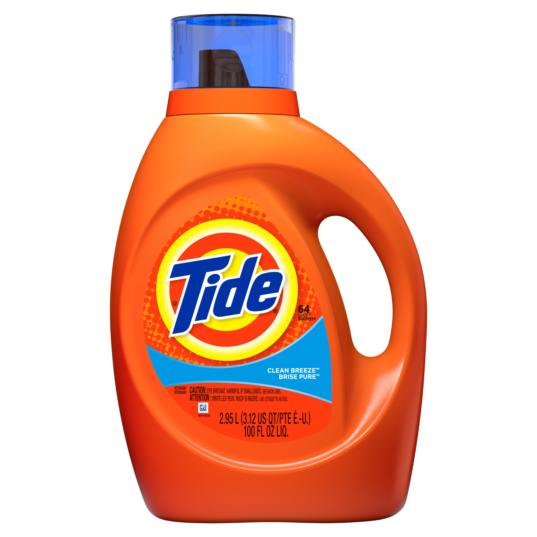 Tide Clean Breeze Scent Liquid Laundry Detergent, 64 loads, 2.95 L