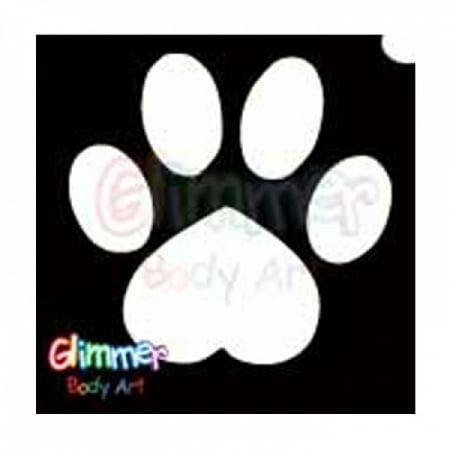 Glimmer Body Art Glitter Tattoo Stencils - Paw - Glimmer Body Art Halloween