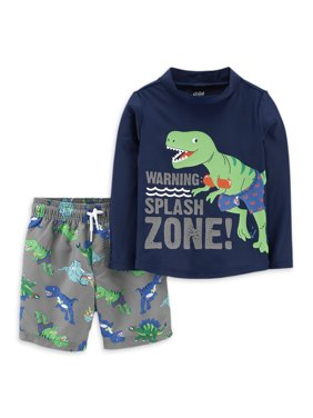 Child of Mine by Carter's Toddler Boy Rash Guard & Swim Trunks, 2pc Set