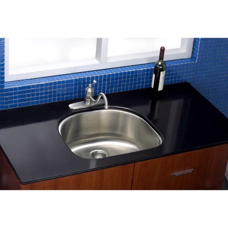 Kingston Brass Manhattan 23.19'' L x 21.06'' W Gourmetier Stainless Steel Single Bowl Undermount Kitchen Sink - Manhattan Undermount Acrylic