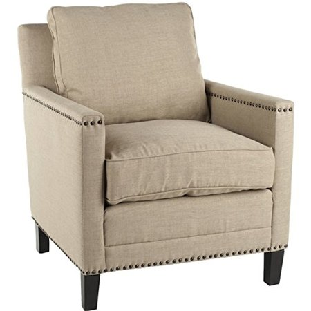 Living Room Cream Straw Cotton Club Chair