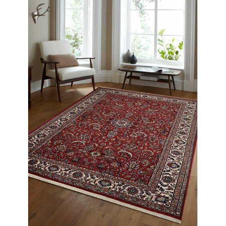 - Rugsotic Carpets Hand Knotted Persian Wool 3'x5' Oriental Area Rug Kashan Red PR0020
