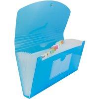 JAM 13 Pocket Expanding File, Blue, 1/Pack, Check Size, 5 x 10 1/2