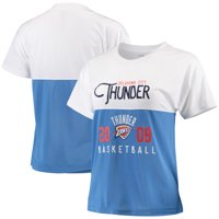 Oklahoma City Thunder FISLL Women's Interlock Mesh Combo Short Sleeve T-Shirt - White/Blue
