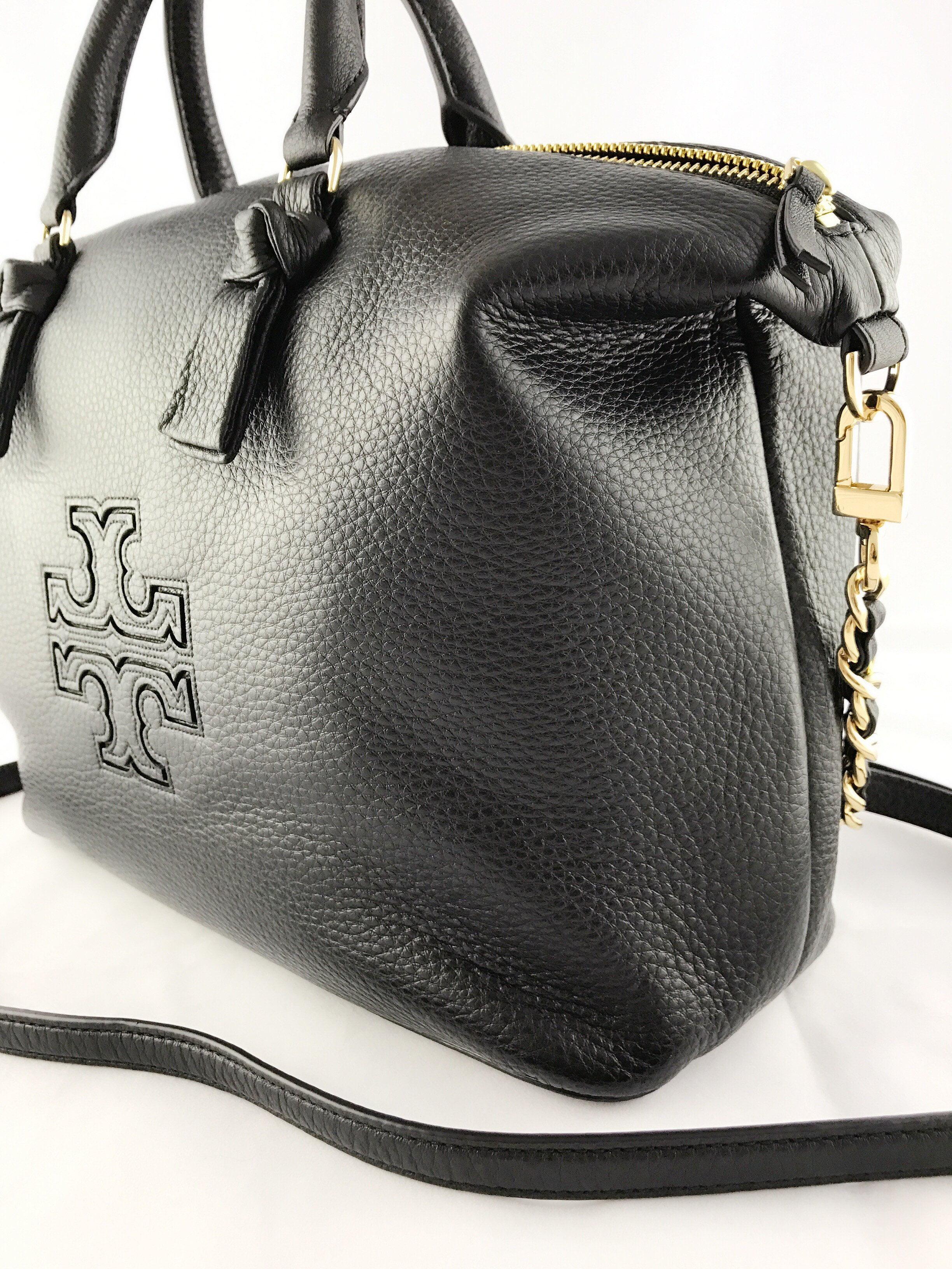 2b7b98ce6c0c Tory Burch - Tory Burch Harper Slouchy Tote Satchel Handbag Black Crossbody  Leather - Walmart.com