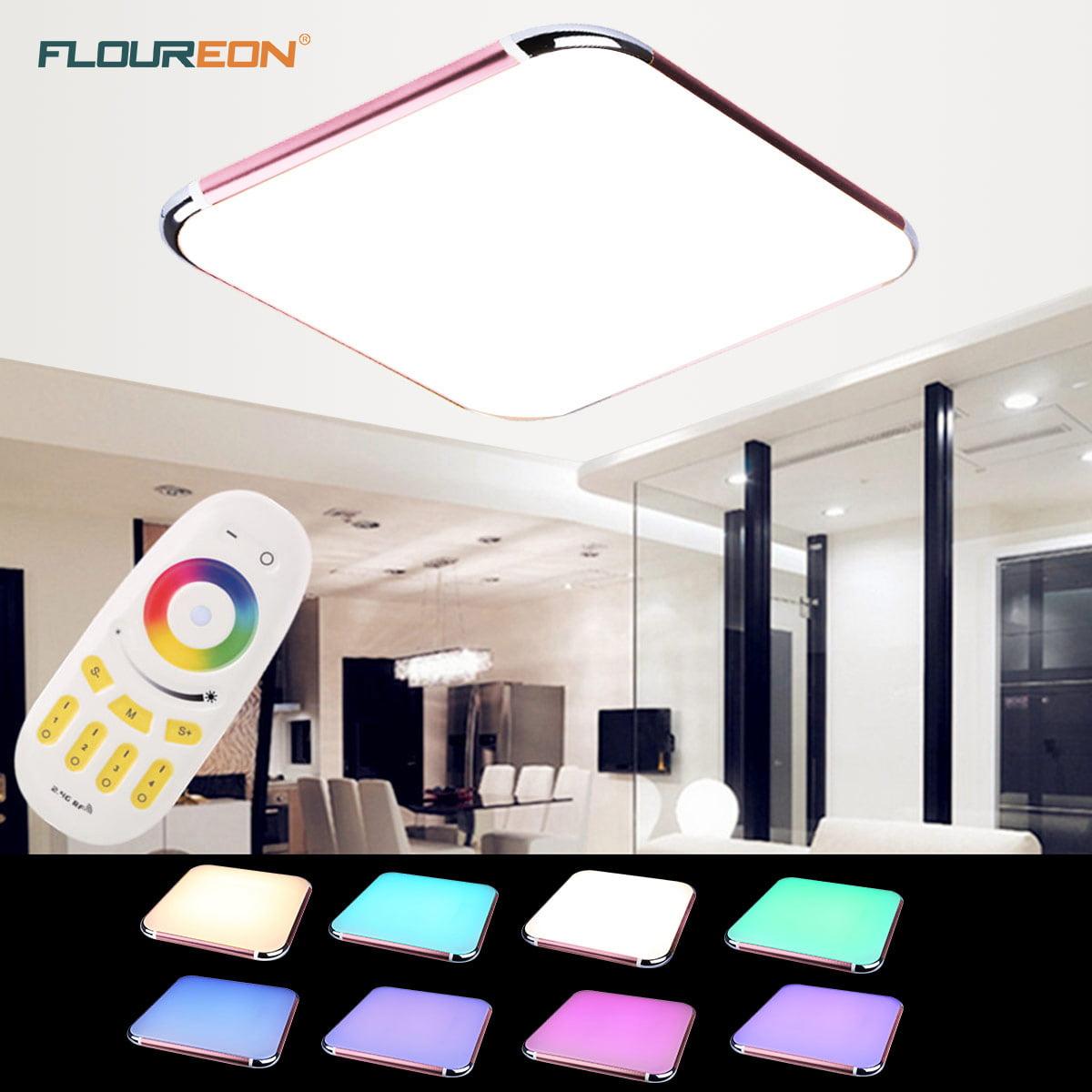 Floureon® 36W RGB LED Ceiling Light 2.4G Wireless Remote Dimming 29 ...