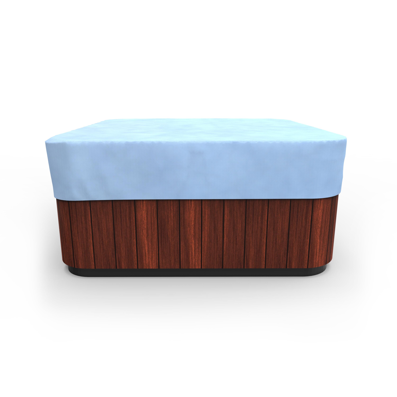 Budge Medium Blue Patio Square Hot Tub Cover All Seasons Walmart Com Walmart Com