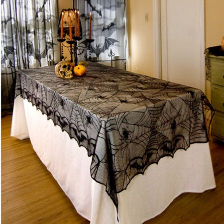 Halloween cool Spider Round Web Tablecloth Topper Covers Fireplace Table Party Decor](Spider Web Tablecloth)