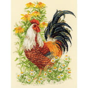 """Rooster Counted Cross-Stitch Kit, 11.75"""" x 15.75"""", 14-Count"""