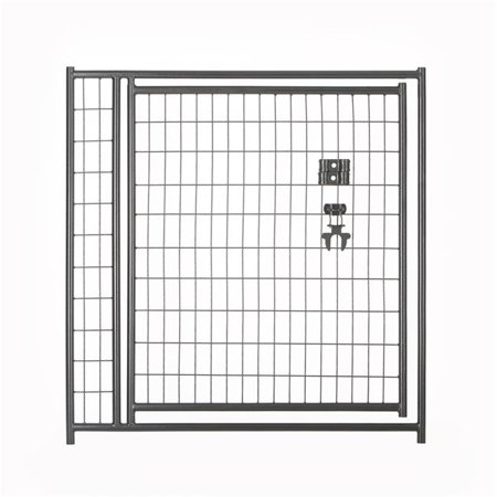 Lucky Dog CL 28441 4 x 4 ft. Black Welded Wire Gate Black Diamond Oval Wire Gate