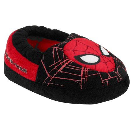 d065facb1d3e5 Marvel Comics Toddler Boys Black Spiderman Slippers Spider-Man House Shoes  5-6