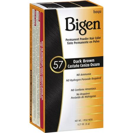 Bigen Permanent Powder Dark Brown 57 Hair Color, .21