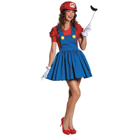 Mario Costume Woman (Morris Costumes Adult Womens Tv & Movie Characters Mario Costume M, Style)