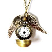 Fashion Jewelry Bronze Harry Potter Snitch Pendant Necklace / pocket watch