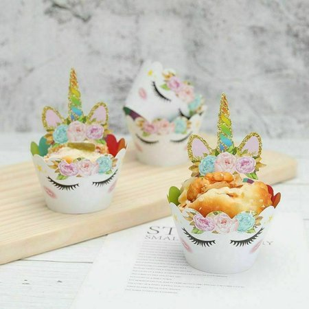 TURNTABLE LAB Unicorn Rainbow Cupcake Wrap Decor Wedding Cake Topper Trendy  Selling