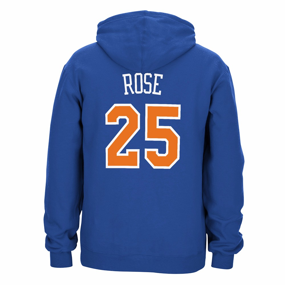 New York Knicks NBA Adidas Blue #25 Fleece Hoodie For Men by Adidas