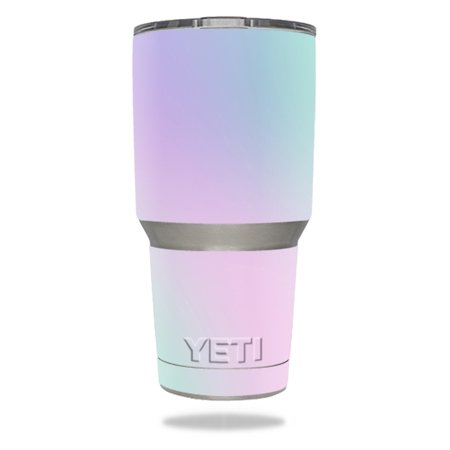 MightySkins Protective Vinyl Skin Decal for YETI 30 oz Rambler Tumbler wrap cover sticker skins Cotton Candy for $<!---->