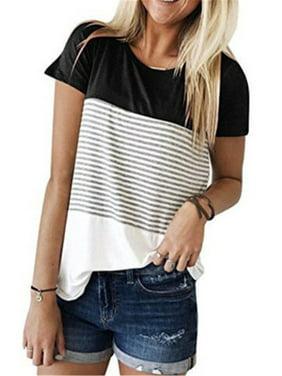 Nituyy Women Maternity Breastfeeding Tee Nursing Tops Striped T-shirt