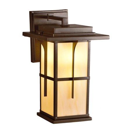 "Dale Tiffany STW15148LED Wayne Single Light 14"" Tall LED Lantern Style Wall Sconce with Tiffany Glass Shade"