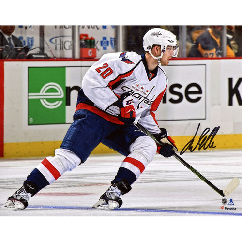 "Lars Eller Washington Capitals Autographed 8"" x 10"" White Jersey Skating Photograph No Size by Fanatics Authentic"