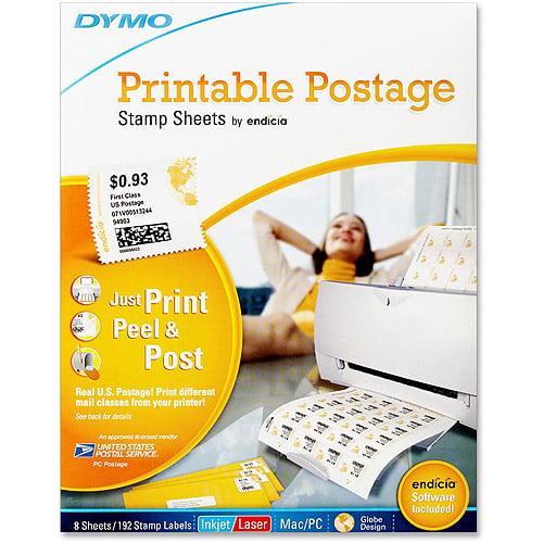 Dymo Printable Postage Stamp Sheets