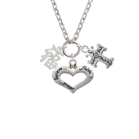 Delight Jewelry - Chinese Symbol ''Good Luck'' Believe Faith