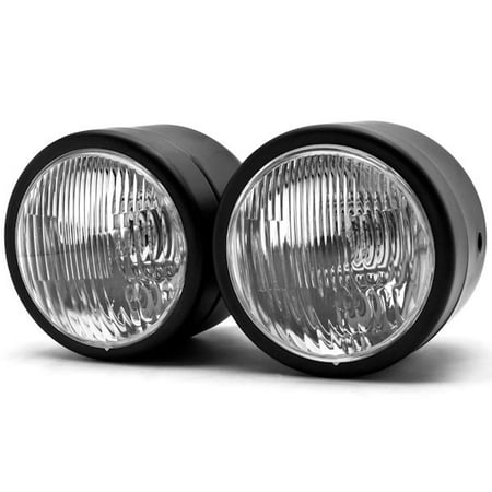 Black Twin Headlight Motorcycle Double Dual Lamp Compatible with Victory Cross Country - image 1 de 6