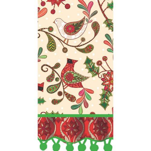 "28"" Holiday Flourish Cotton Tea Towel"