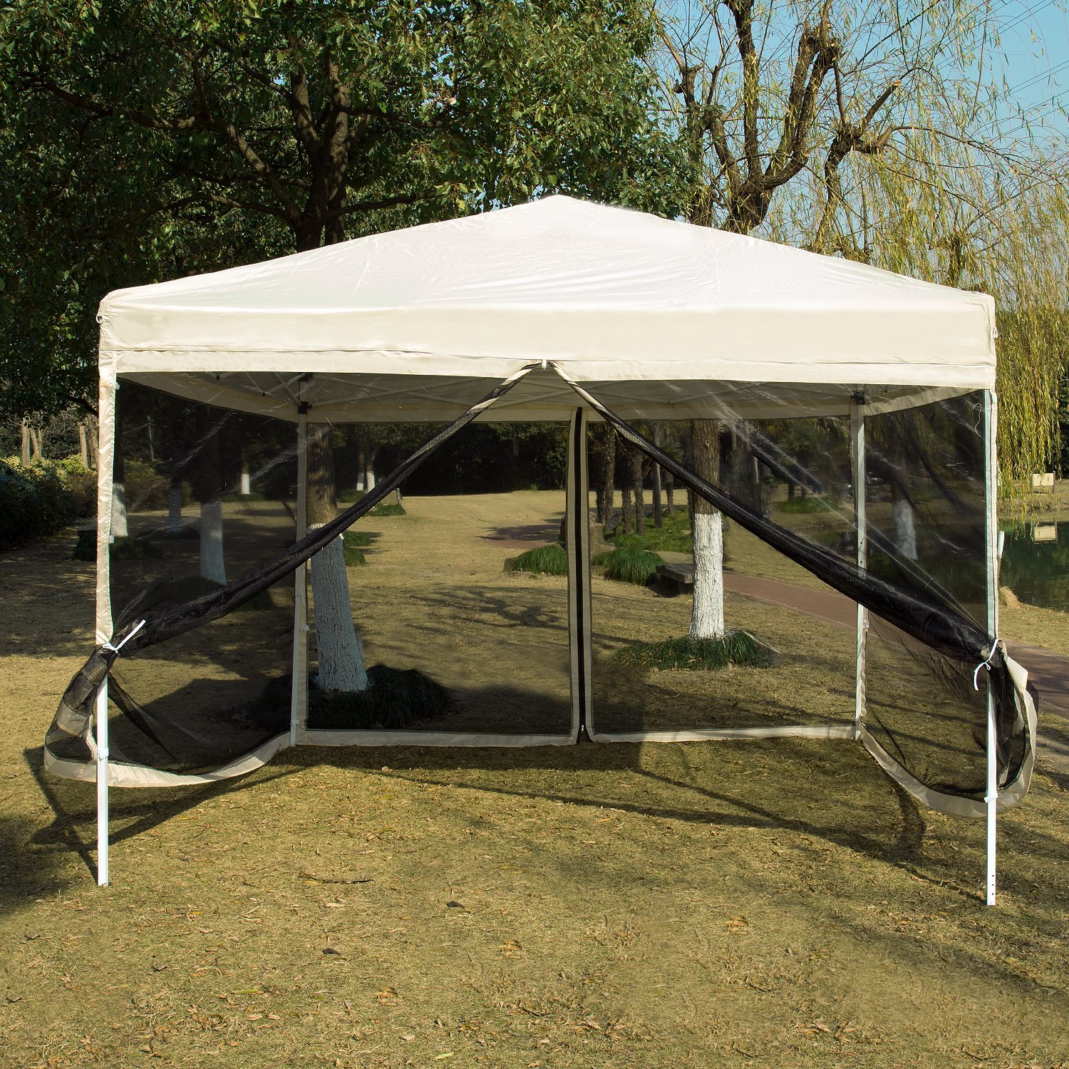 size 40 3a142 626f9 Pop up Canopy with Netting Screen House Instant Gazebo Party ...