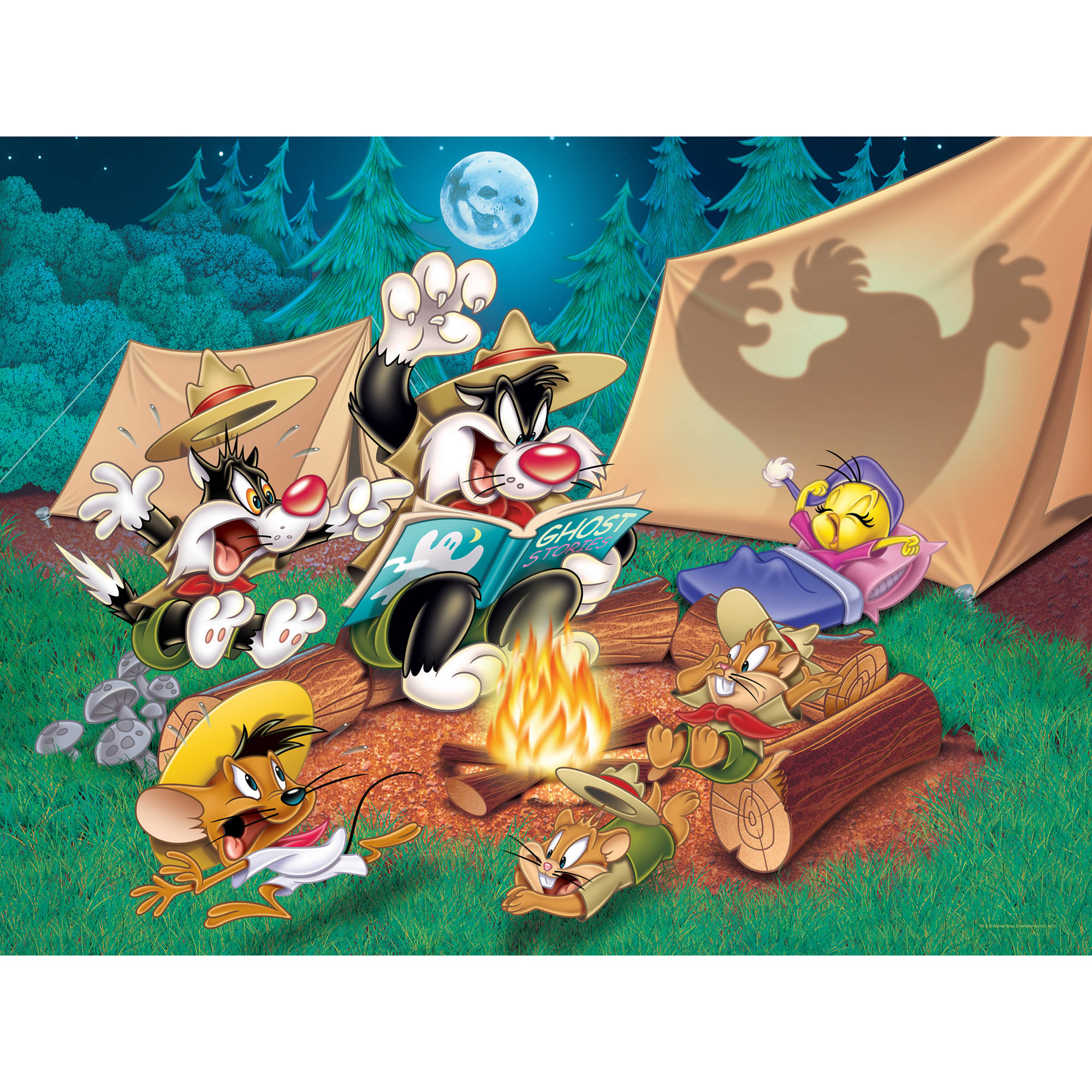 Sylvester and Tweety Camping Wall Art