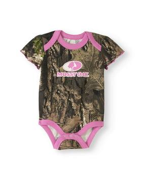 3722ecc56ac43 Product Image Newborn Baby Girls' Short Sleeve Camo Bodysuit. Mossy Oak