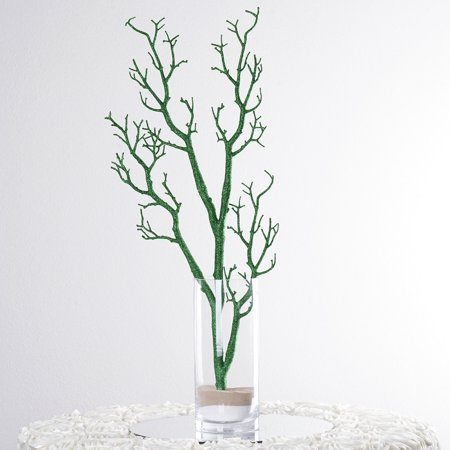 Balsacircle 4 Pcs 32 Manzanita Glittered Tree Branches Wedding