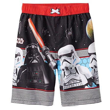 8fadb8bc82b62 LEGO - Boys LEGO Star Wars Darth Vader & Stormtrooper Swim Trunks (4) -  Walmart.com