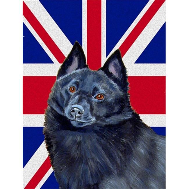 Carolines Treasures LH9491CHF Schipperke With English Union Jack British Flag Flag Canvas House Size - image 1 de 1
