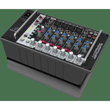 Behringer EUROPOWER PMP500MP3 Ultra-Compact 500-Watt 8-Channel Powered Mixer w/ MP3 Player, Reverb & Wireless Option