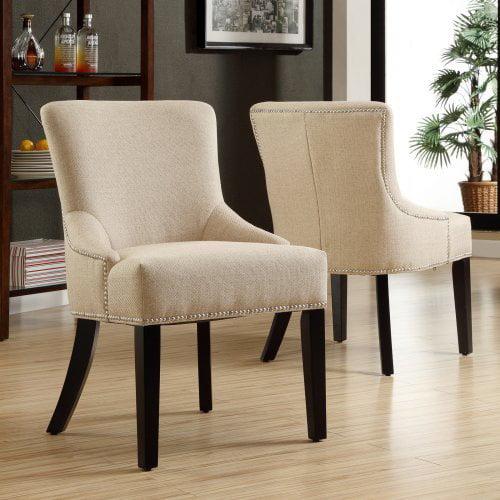 Kalyne Linen Chair - Beige - Set of 2