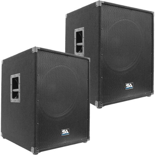"Seismic Audio Pair of  18"" PA POWERED SUBWOOFER Active Speakers 800 Watts Each - Aftershock-18Pair"