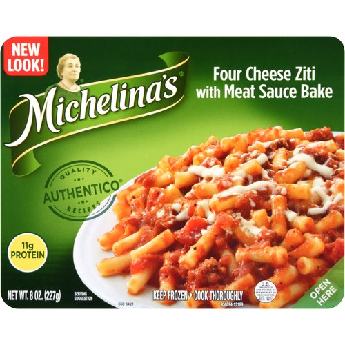 Michelina's Four Cheese Ziti with Meat Sauce Bake, 8 oz