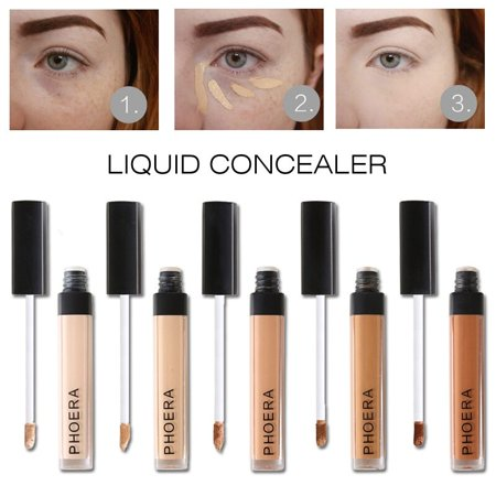 TekDeals PHOERA Makeup Concealer Liquid Moisturizer Conceal HD High Definition Foundation, Light