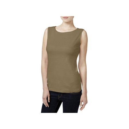 986abfd78c1c82 Karen Scott - Karen Scott Womens Petites Cotton Solid Tank Top - Walmart.com