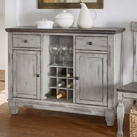 (Weston Home Two Tone Server, Coffee and Antique Grey)