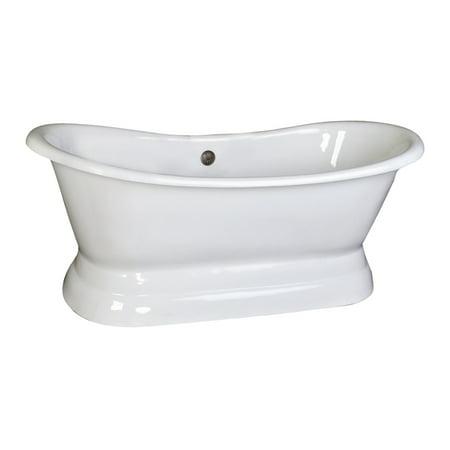 Barclay CTDSN74B-WH Cast Iron Double Slipper Tub Copper Double Slipper Bathtub