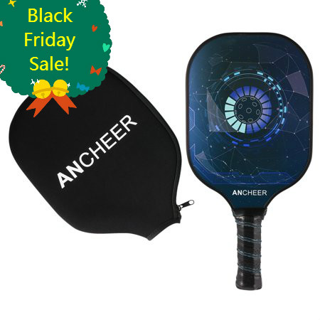 Christmas Sale! Pickleball Paddle Graphite Carbon Fiber Pickleball Racket PP Polymer Honeycomb Composite Core Pickleball Paddle Set HITC