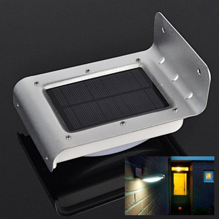 Ktaxon 16-LED Solar Powered PIR Motion Sensor Garden Security Light Wall Lamp Outdoor ()