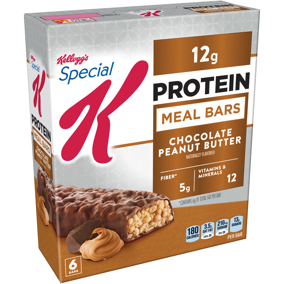 Kellogg's Special K Protein Meal Bar, Chocolate Peanut Butter, 12g Protein, 36 Ct