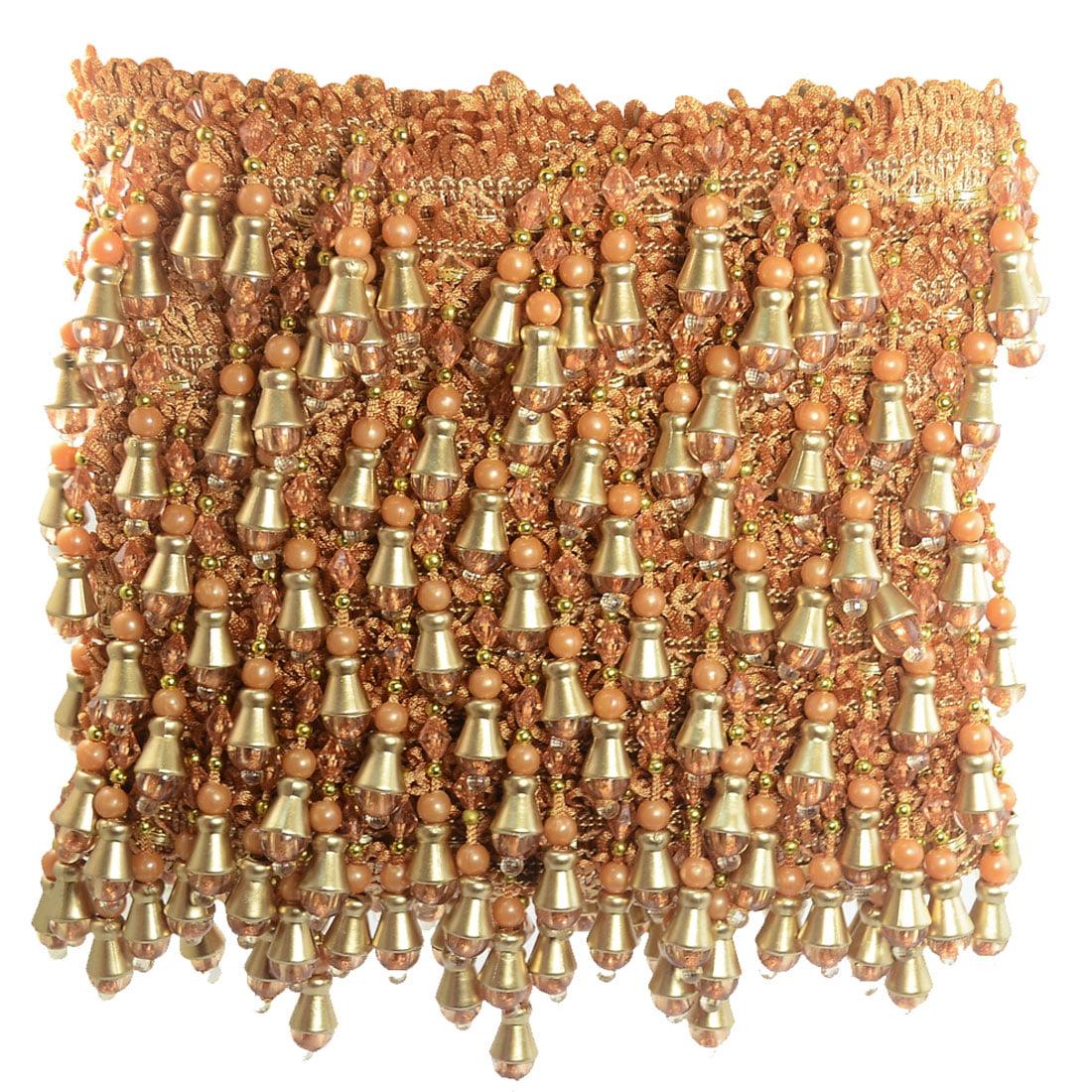 Unique Bargains Plastic Beaded Curtain Trim Tassel Fringe...