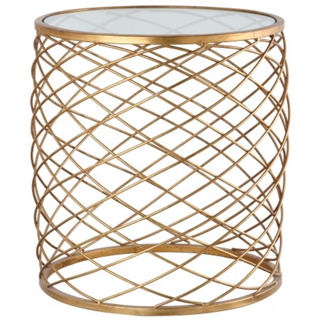 Mariana Home 152003 Criss Cross Side Table - Gold Leaf