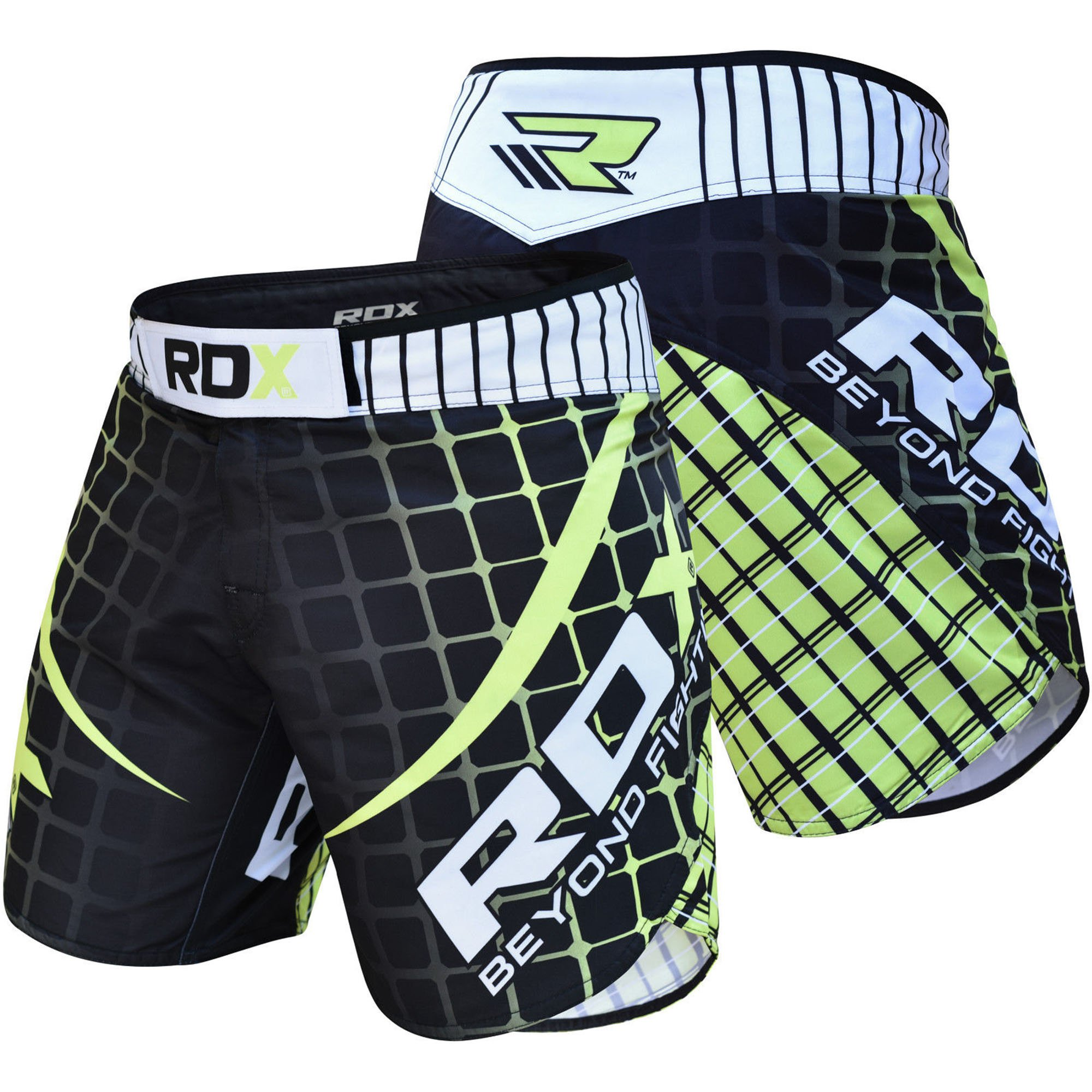 RDX R2 MMA Stretch Shorts, Green, 2X-Large