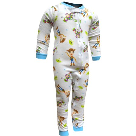 Footie Pj (Toy Story Buzz and Woody Toddler One Piece Blanket Sleeper PJ)