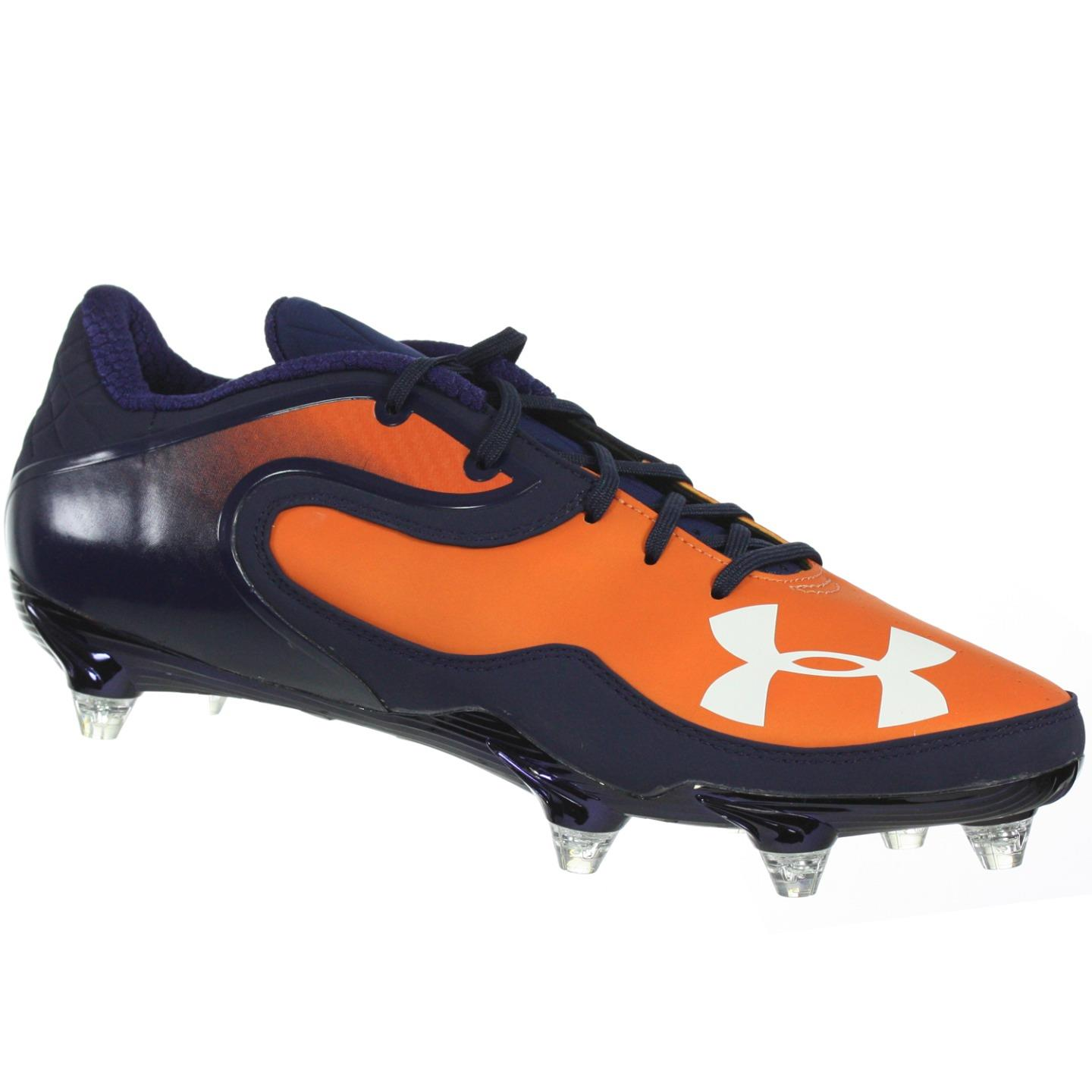 UNDER ARMOUR MEN'S FOOTBALL CLEATS TEAM CAM LOW D PRO NAVY ORANGE WHITE 12 M